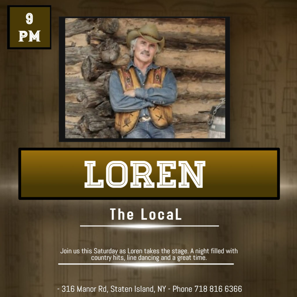 Loren performing at The Local