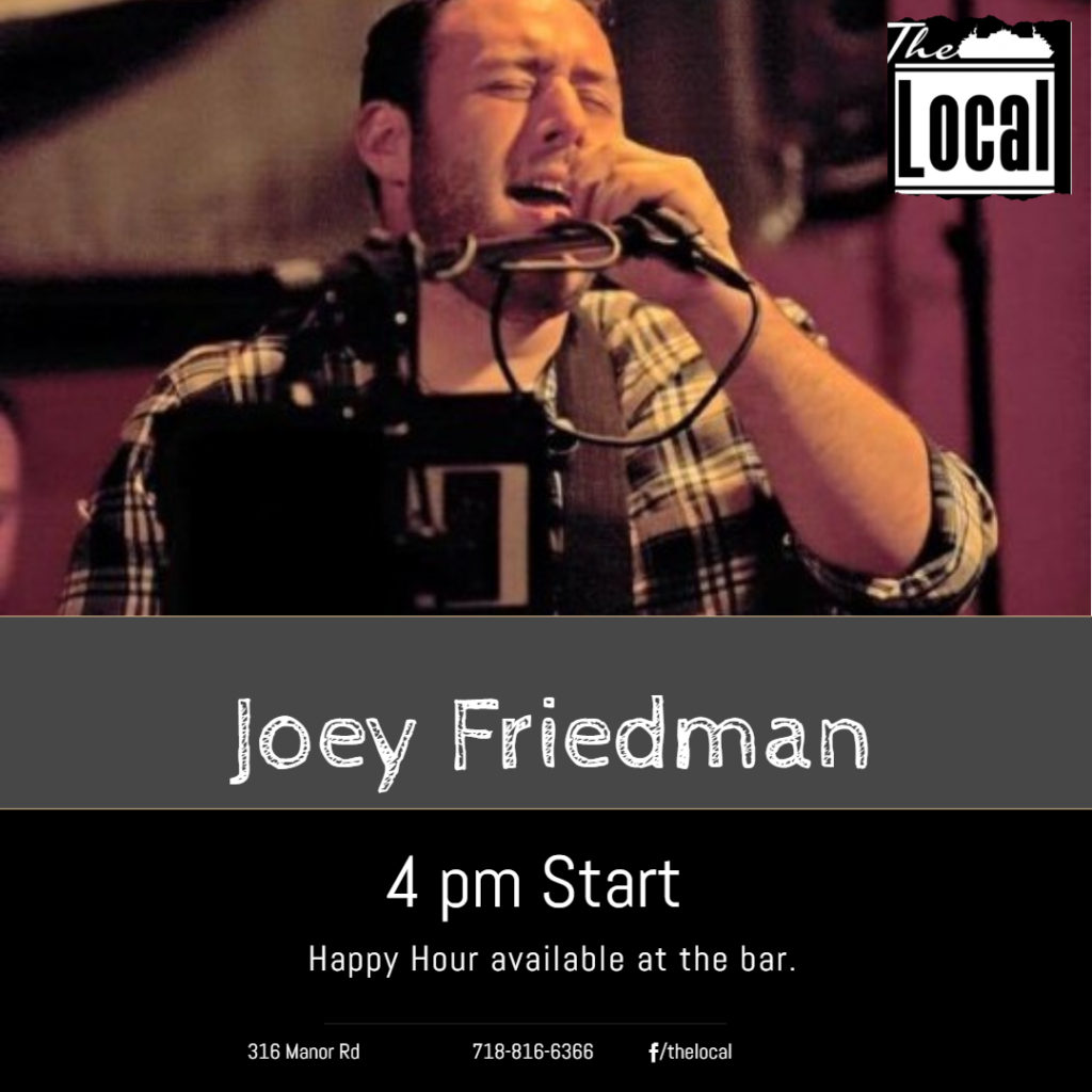 Joey Friedman singing at The Local