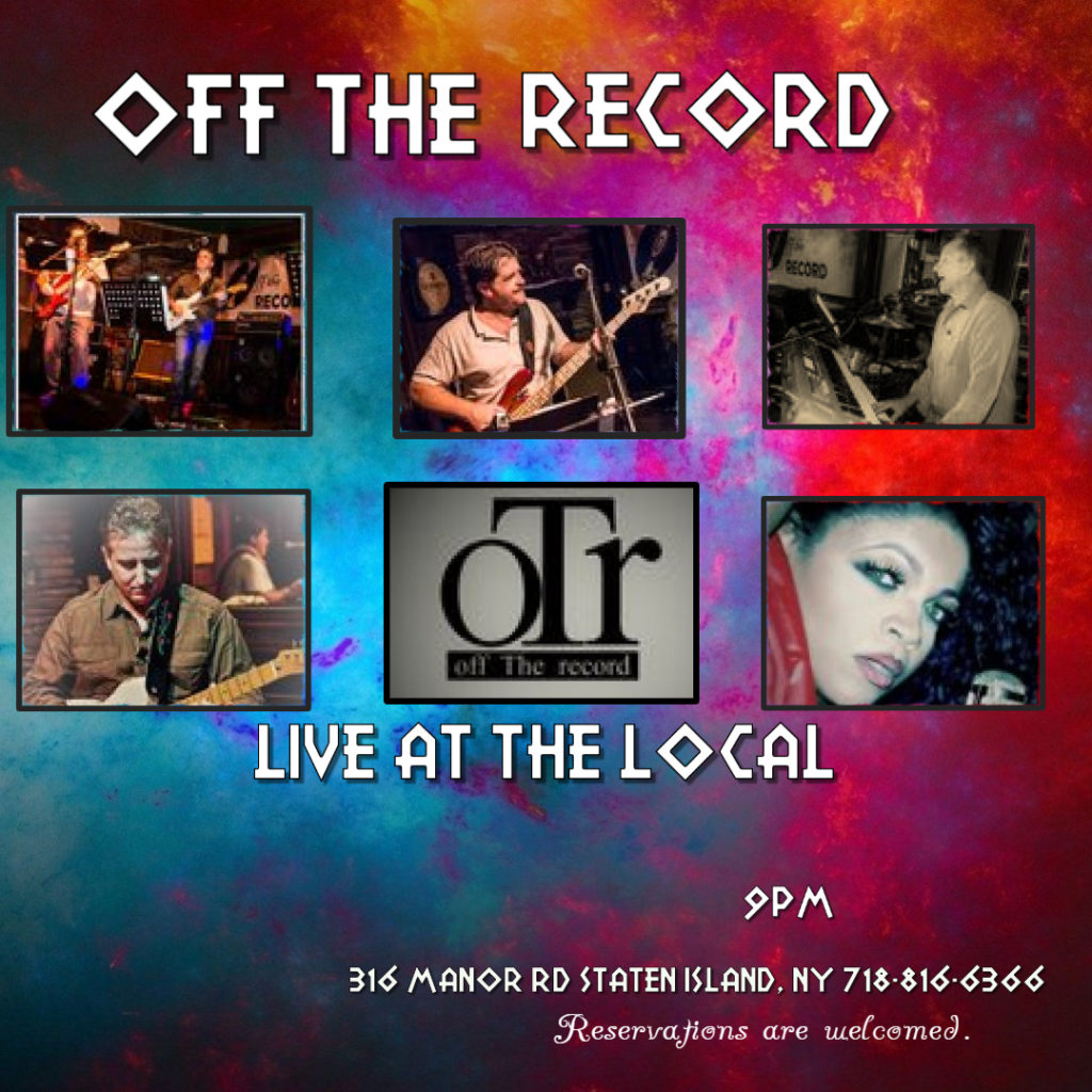 Off The Record performing at The Local