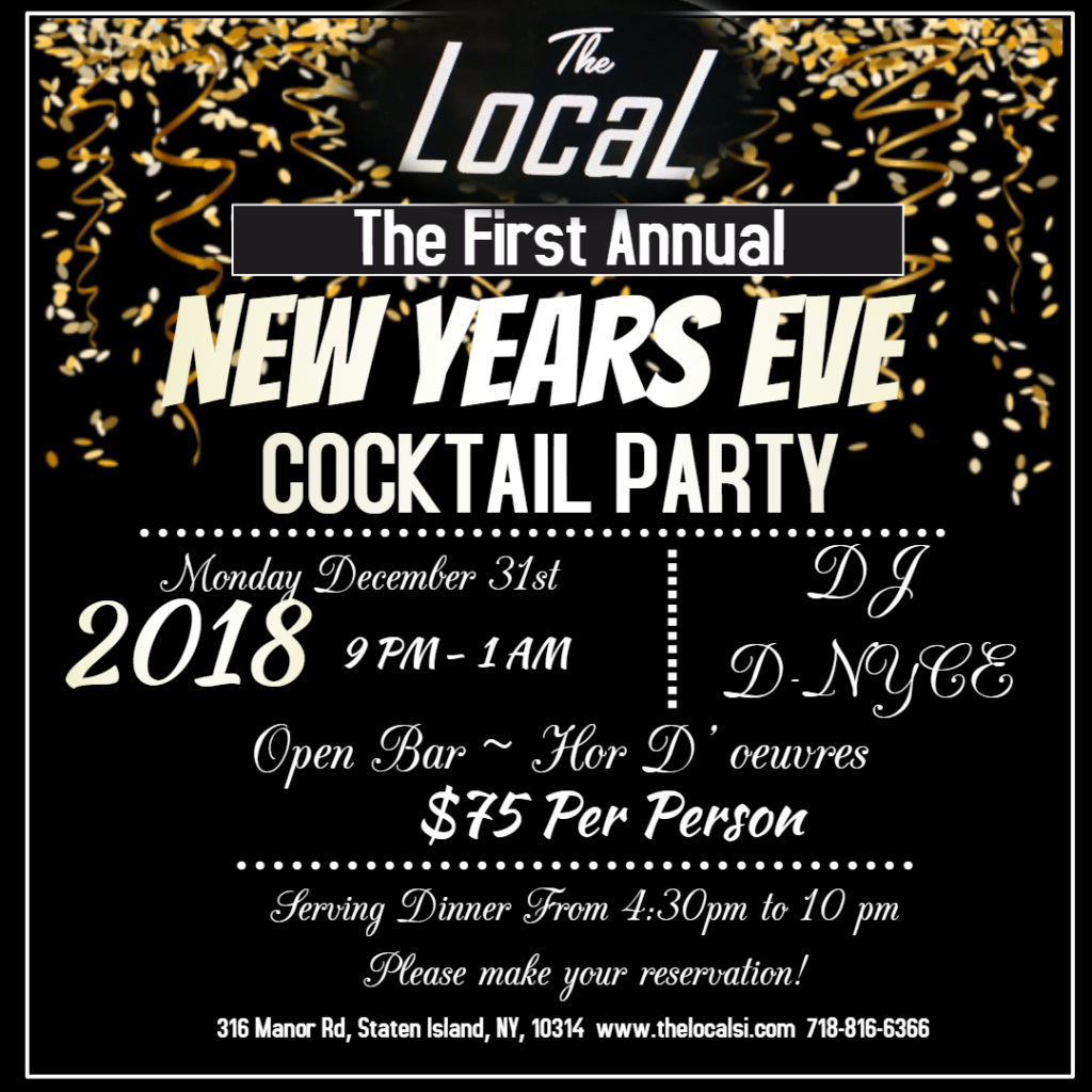 The Local New Years Eve Cocktail Party