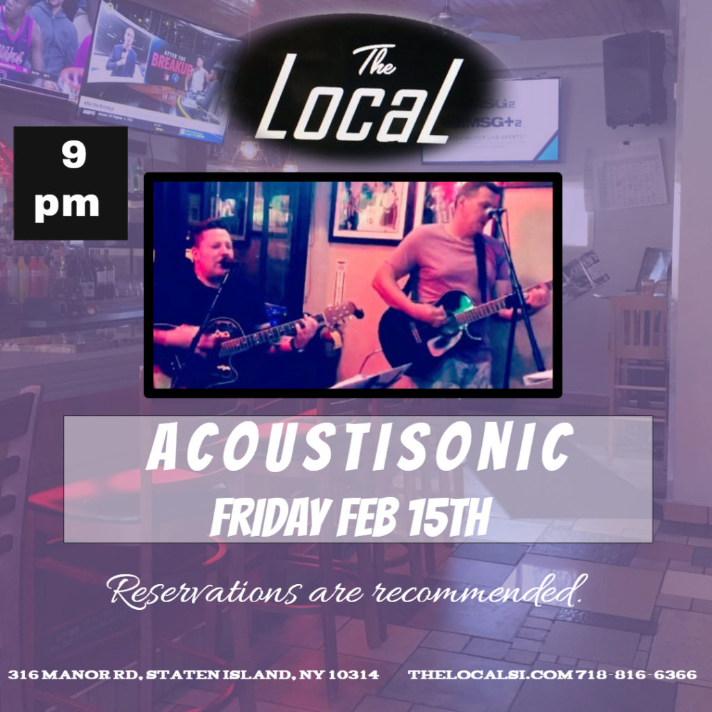 Acoustisonic February 15th at The Local