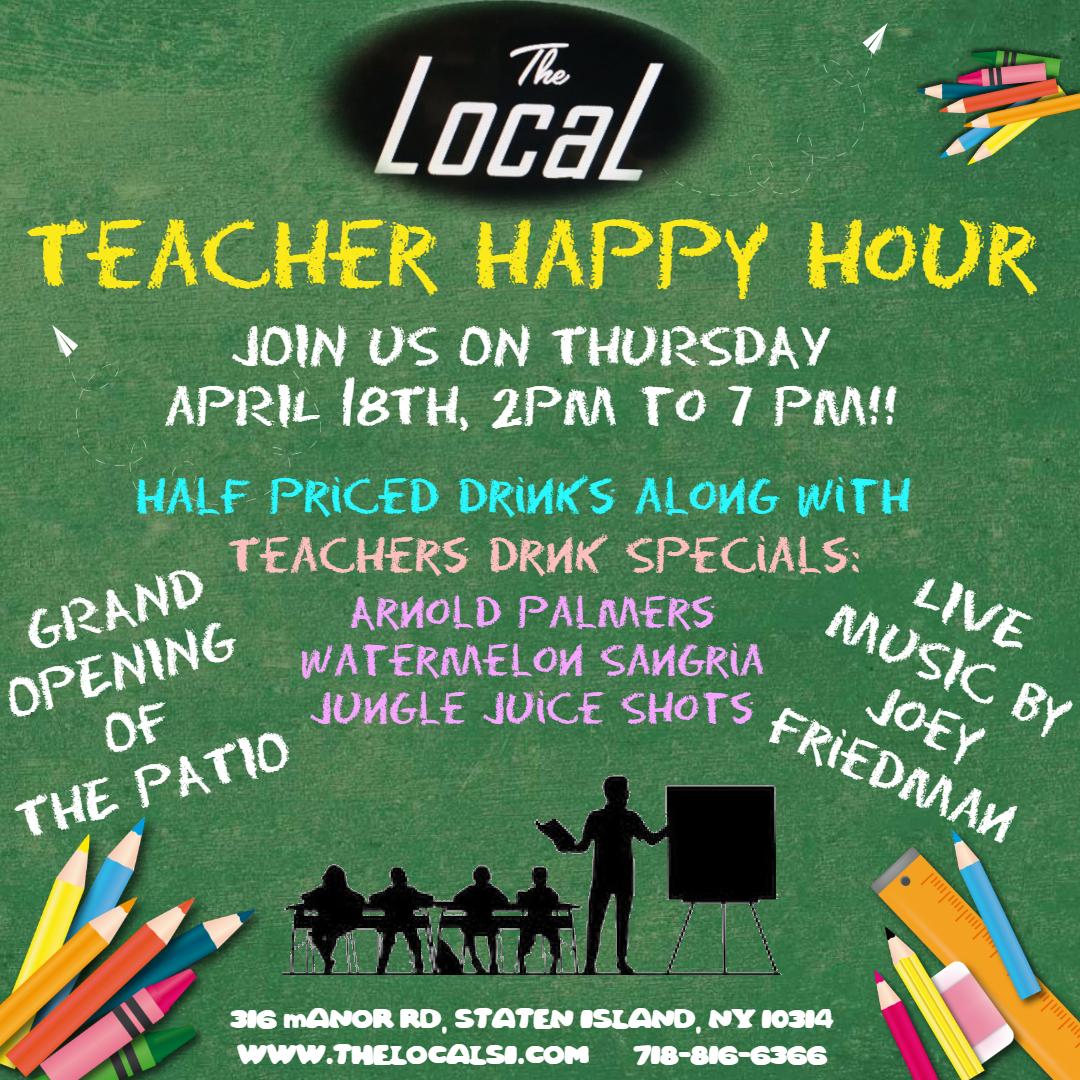 TEACHER HAPPY HOUR!!!